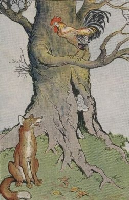 The-Dog-the-Cock-and-the-Fox