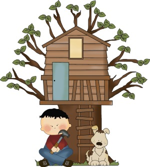 boy in treehouse