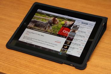 apple iPad and case