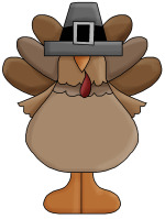 turkey with hat