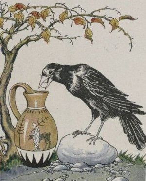 The-Crow-and-the-Pitcher