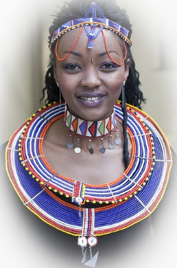 african massai necklace