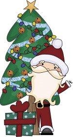 santa christmas tree